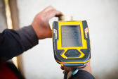 Handheld XRF analyzer spectrometer for scrap metal — Foto Stock