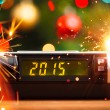 Led display of alarm clock with 2015 new year — Stock Photo #54752501