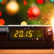 Led display of alarm clock with 2015 new year — Stock Photo #55457099