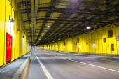 Modern tunnel for road vehicles transportation — Stock Photo