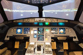 Inside of homemade flight simulator cockpit — Stock Photo