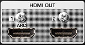 HDMI out port, closeup view — Stock Photo