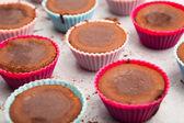 Molten chocolate cakes — Stock Photo