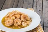 Shrimp scampi for appetizer — Stock fotografie