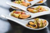 Mussels vinaigrette for a good appetizer — Stock Photo