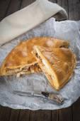 Spanish meat pie called hornazo — Stock Photo