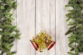 Fundo de cartão de Natal com um espaço para texto — Fotografia Stock