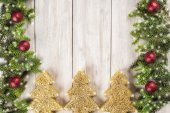 Christmas card background with a space for text — Stock Photo
