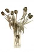 Váza s tulipány — Stock fotografie