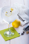 Gin and tonic on a highball glass — Stock Photo