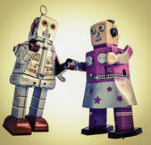 Robot romance — Stock Photo