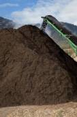 Large Scale Compost Pile — Stock Photo