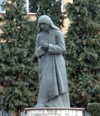 Statue of Mother Teresa in Struga,Macedonia — Stock Photo
