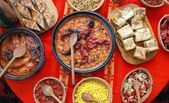 Traditional macedonian and balkans food — Stock Photo
