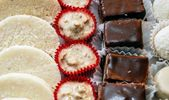 Picture of  Assortment chocolate  sweets — Stock Photo
