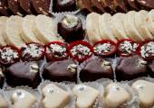 Assortment chocolate praline sweets — Stock Photo