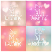 Set of glittering Valentine's Day backgrounds — Stockvector