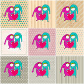 Cute couple in love illustrations — Vector de stock