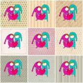 Cute couple in love illustrations — 图库矢量图片