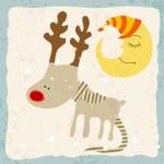 Cute Christmas card — Stock Vector #60600719
