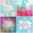 Set of Valentine's Day backgrounds — Stock Vector #60601055