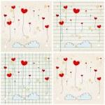 Cute heartshaped balloons — Stock Vector #60601207