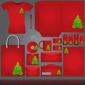 Christmas merchandising templates set — Stock Vector