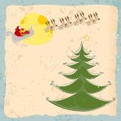 Christmas card with Santa's sleigh — Stock Vector