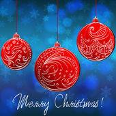 Beautiful Christmas balls — Stock Vector