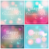 Set of Valentine's Day backgrounds — Vector de stock