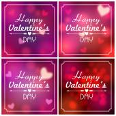 Set of Valentine's Day backgrounds — Stock Vector