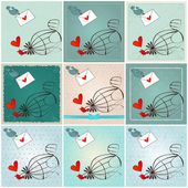Cute birds in love — Stock Vector