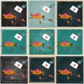 Simpatici uccelli in amore — Vettoriale Stock