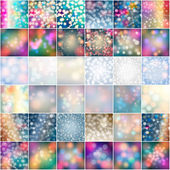Set of winter backgrounds — Stock Vector