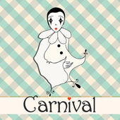 Cute carnival girl — Stock Vector