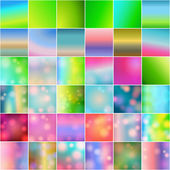 Set of 36 beautiful glittering soft focus backgrounds — Stock Vector