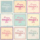 Valentine's Day card illustrations — Stock Vector