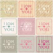 Valentine's Day card illustrations — Vector de stock