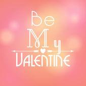 Illustration of glittering Valentine's Day background — Stock Vector