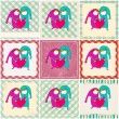 Cute couple in love illustrations — Stock Vector #65913625