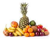 Assortment of exotic fruits — Stock Photo
