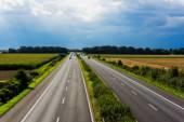 Highway traffic.  — Stock Photo
