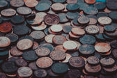 Coins background.   euro coins. cent coins. euro cents — Stock Photo