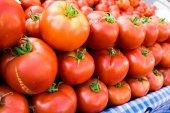 Photo of  tomatoes. tomato background — Stock Photo