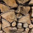 Closeup of chopped fire wood stack — Stock Photo #54048147