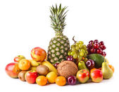 Assortment of exotic fruits. Fresh Fruits — Stock Photo