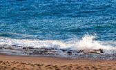 Sea with wave.  Blue sea with waves — Stock Photo