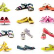 Children shoes on white background — Stock Photo #55710251
