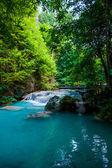 Beautiful forest Waterfall. — Stock Photo