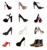 Various types of female shoes — Stock Photo